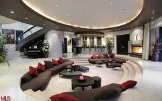 LA modern mansion living room
