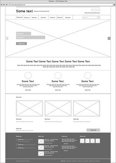 A nice clean layout of a website's wireframe. Very detailed and clear about where content will be placed and how it will be organized. Minimal Web Design, Design Web, Layout Design, Web Design Tutorial, Web Design Quotes, Web Design Trends, Web Layout, Flat Design, Wireframe Design