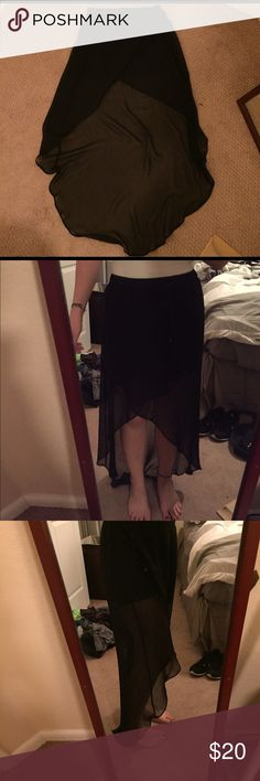 High low chiffon skirt Super cute high low Chiffon skirt you can see the skirt part under the chiffon part Express Skirts High Low
