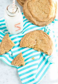 Brown Sugar Snickerdoodle Cookies: Giant-sized cookies rolled in cinnamon sugar with a soft and chewy center.