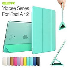 iPad Air 2 Case,ESR Yippee Color Series Smart Cover+Transparent Back Cover [Ultra Slim] [Light Weight] [Scratch-Resistant Lining] [Perfect Fit] [Auto Wake Up/Sleep Function] for[2014 Release] iPad Air 2 Cover (Mint Green) ESR http://www.amazon.com/dp/B00OFLMF6C/ref=cm_sw_r_pi_dp_PAgBub0B9W5RG