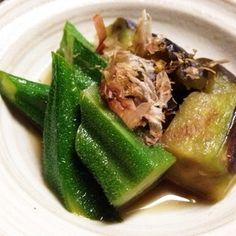 ナスとオクラ!簡単煮浸し+by+やちゅぴちゅの台所さん+|+レシピブログ+-+料理ブログのレシピ満載! オクラはそのまま使うので本当簡単です!煮詰めればお弁当にも!