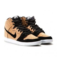 "Nike Dunk High Premium SB ""Cork"" (Black / Hazelnut / White) Classic Sneakers, High Top Sneakers, Nike Dunks, Sneaker Brands, Black Nikes, Cork, Converse, Shoes, Zapatos"