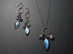 Labradorite set, part of Oblivion Jewellery's  'Siren Collection'
