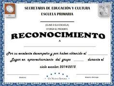 Diploma a la Excelencia Educativa Diseño 1