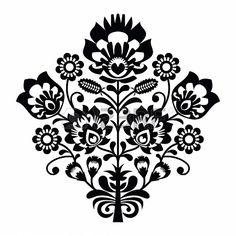 Traditional polish folk pattern