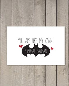 Printable Valentine's Day Batman Card // I by LittleTinspirations, $4.00