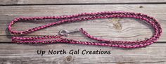 Pink Dog Leash Brown Camo LeashParacord Dog by UpNorthGalCreations