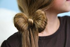 The Ponytail Bow | Cute Girls Hairstyles