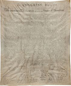 1823 copy of the Declaration of Independence sells today. #ilovemyjob