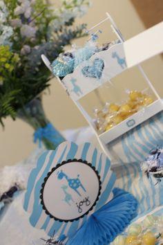 Candy Bar en forma de cuna  Baby Shower para decorar mesa