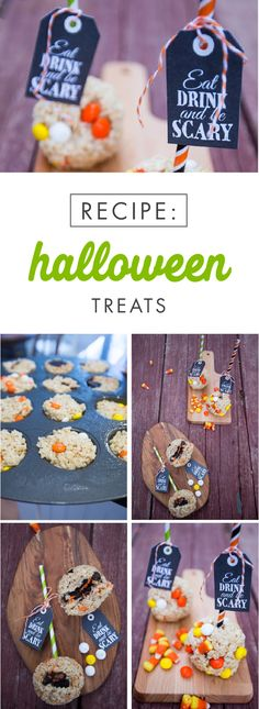 You're always thinking of creative ways to give your Halloween table a delicious twist. This recipe for festive Halloween Treats from Jo-Ann is sure to help. Filled with everything from colorful candy to everyone's favorite chocolate cookies, you can customize this dessert to suit your party needs.