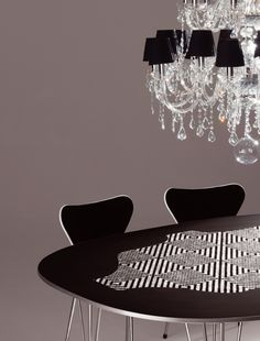 Bisazza / Fritz Hansen Table Fritz Hansen, Chandelier, Ceiling Lights, Table, Furniture, Home Decor, Candelabra, Decoration Home, Room Decor