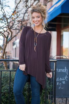 The Right Stuff Tunic, Brown
