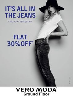 DENIM CRAZE!! Flat 30% off on all JEANS ! #VeroModa #ForumCourtyard