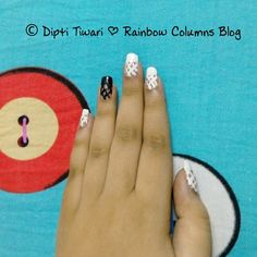 Rainbow Columns ♥: Pictorial - Freehand Lace NailArt