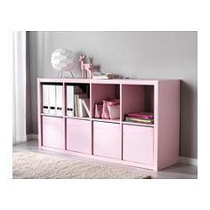 IKEA - DRÖNA, Rangement tissu, rose clair, , Lorsque vous n'utilisez pas la boîte et que vous voulez gagner de l'espace, ouvrez la fermeture dans le fond et applatissez la boîte.