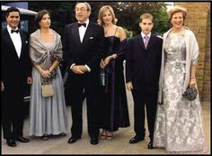 L to R: Carlos Quantana husband of Princess Alexia who is next to him, King Constantine, Princess Theodora,Prince Phiippos, Queen Anne-Marie.