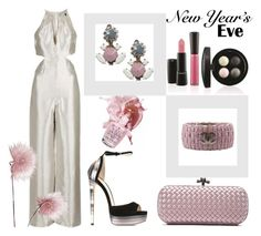 """New Year's Eve Style"" by giselsimon ❤ liked on Polyvore featuring Topshop, Jimmy Choo, Bottega Veneta, ORTYS, Chanel and OPI"
