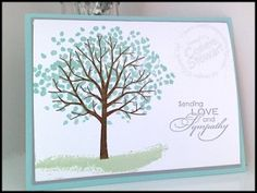 Quick and easy Sheltering Tree - www.SimplySimpleStamping.com