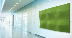 These are some pretty cool 3D Acoustic Wall Facings! #design