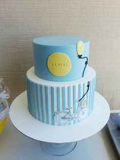 Simple and cute striped cake ♥