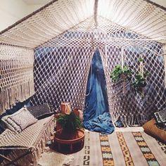 Emily Katz's macrame tent