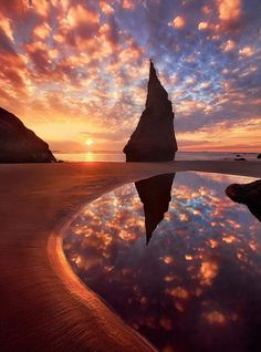 Prachtige foto van 'The Wizards Hat' in Bandon aan de kust van Oregon in de VS.