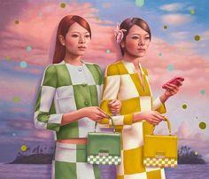 Nous avions déjà parlé des créations de l'artiste Alex Gross et de ses peintures étranges et surréalistes, peuplées de références à la pop culture e