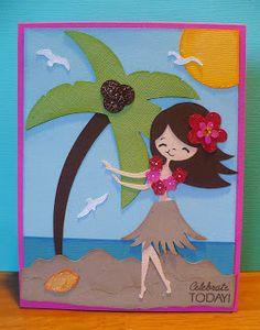 Cricut Life's a Beach Cartridge JR Cricut Birthday Cards, Cricut Cards, Scrapbooking Layouts, Scrapbook Cards, Cruise Scrapbook, Create A Critter, Beach Cards, Animal Cards, Cricut Creations