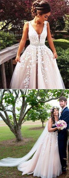 long prom dress, wedding dress, fall wedding dress, white lace wedding dress,V Neck Prom Dress,Lace Prom Dresses,Sexy Prom Dress,Formal Dress 2017,Evening Dress,ball gown prom dresses