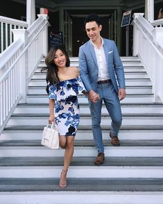 What to wear to a summer cocktail party // his and hers couple attire outfits