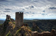 Lastours, France. The site of four Cathar castles.