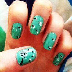 Dandelion seed nails :)