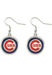 Chicago Cubs Dangler Womens Earrings