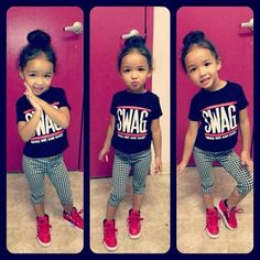 Baby girl cool kid fashion baby swag
