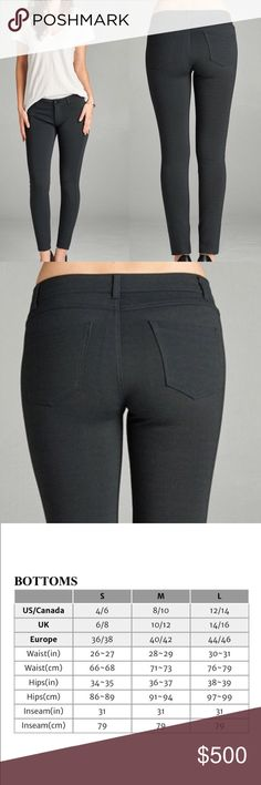 🚀JUST ARRIVED🚀 Black Jeggings With Back Pockets The perfect black skinny jeans with stretch. Rayon, nylon, spandex  Please use chart to assist in sizing. Buy single piece or add to a bundle for savings at purchase. No trading. Price is firm. @caradock Pants Skinny