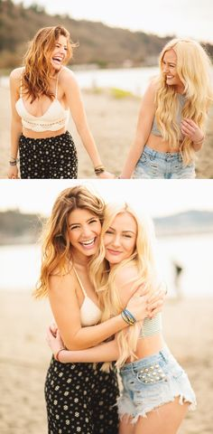 Friends with matching Pura Vida Bracelets.