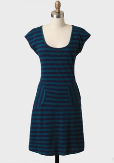 Poet Striped Pocket Dress By Synergy at #Ruche @shopruche