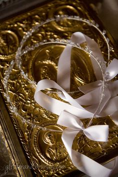 The Stefana (Marriage Crowns)(Traditional Greek Wedding) (Join the G&B Facebook community here:  https://www.facebook.com/glitterandbruisesdotcom)
