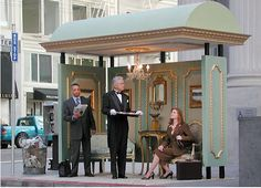 designed and fabricated bus stop for a San Francisco photo shoot