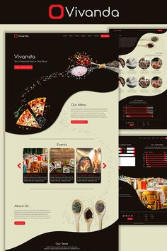 Vivanda Restaurant PSD Template:Vivanda is a restaurant PSD template with 7 high quality PSD files. Including an online reservation form, food menu Web Design Software, Admin Panel, Free Advertising, Preschool Themes, Design Development, Food Menu, Psd Templates, Website Template, Typography Design