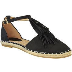 aa01ff937b49 Fashion Thirsty Womens Flat Tassel Ankle Strappy Holiday Summer Sandals  Shoes Size     For