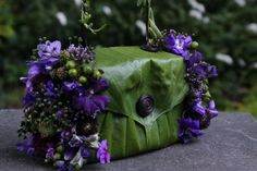 botanical purse with purple flowers12, Françoise Weeks