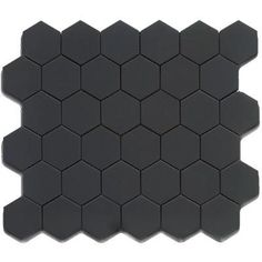 Royal Black Matte 2X2 Hexagon Mosaic (.98 sf sheet) (Sale extended until July 15, shipping charges apply)