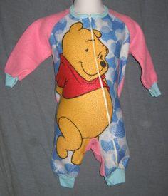 Winnie the Pooh Warm Winter Pajamas Size 12 Month Baby Girl