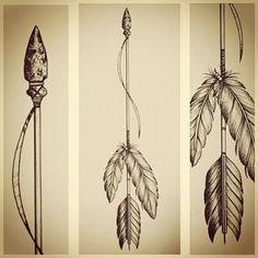 Dessin flèche indienne à plumes