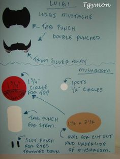 Mario, Luigi & Mushroom Punch Directions by catspy6 - Cards and Paper Crafts at Splitcoaststampers