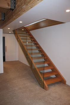 Timber stairs and handrails. Based on the NSW Central Coast. Timber Stair, Iron Balusters, Modern Staircase, Wrought Iron, My Design, Hardwood, Stairs, Ladders, Staircases