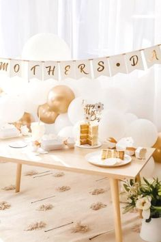 Take a look at this beautiful daisy-themed Mother's Day party! The dessert table and balloon decor is wonderful! See more party ideas and share yours at CatchMyParty.com #catchmyparty #partyideas #mothersday #daisy Dessert Table Backdrop, Dessert Tables, Balloon Decorations, Table Decorations, Mothers Day Cake, Easy Home Decor, Garland, Backdrops, Daisy